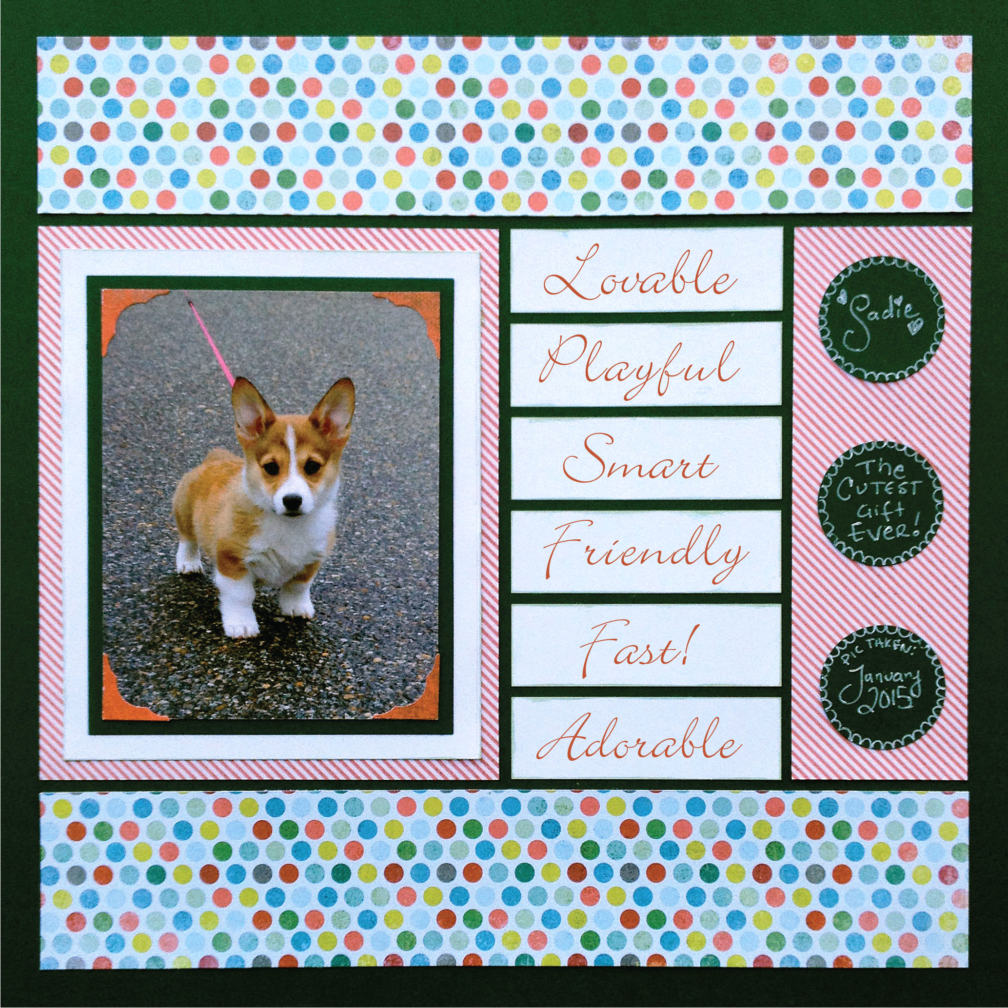 Holiday Scrapbook Layouts - A puppy for Christmas