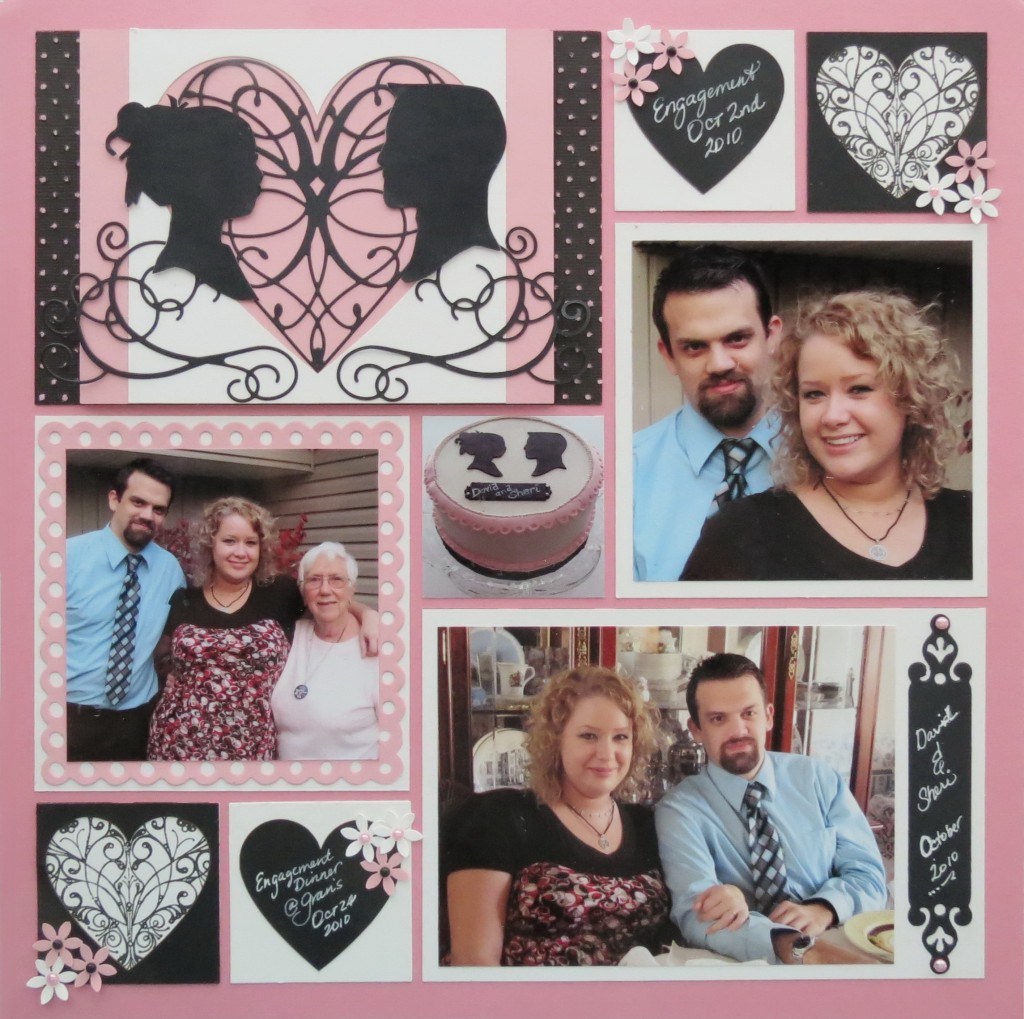 MM Finishing Touches Embellishments Die Cuts, chalkboards, punches flowers, stamped images Heart Tiles.