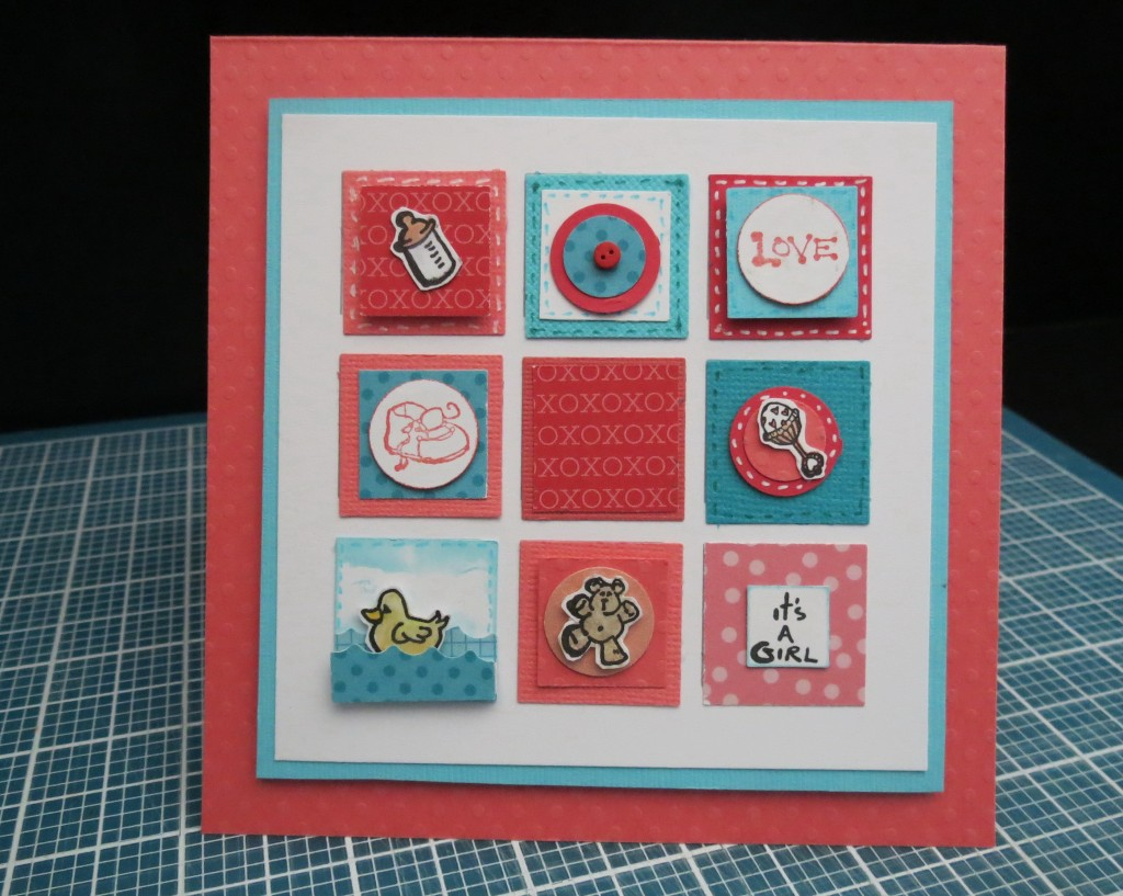 MM TYS Baby card using Mosaic Moments 4x4 RTC Grid paper and the Inchies Style is perfect for our smaller grids.