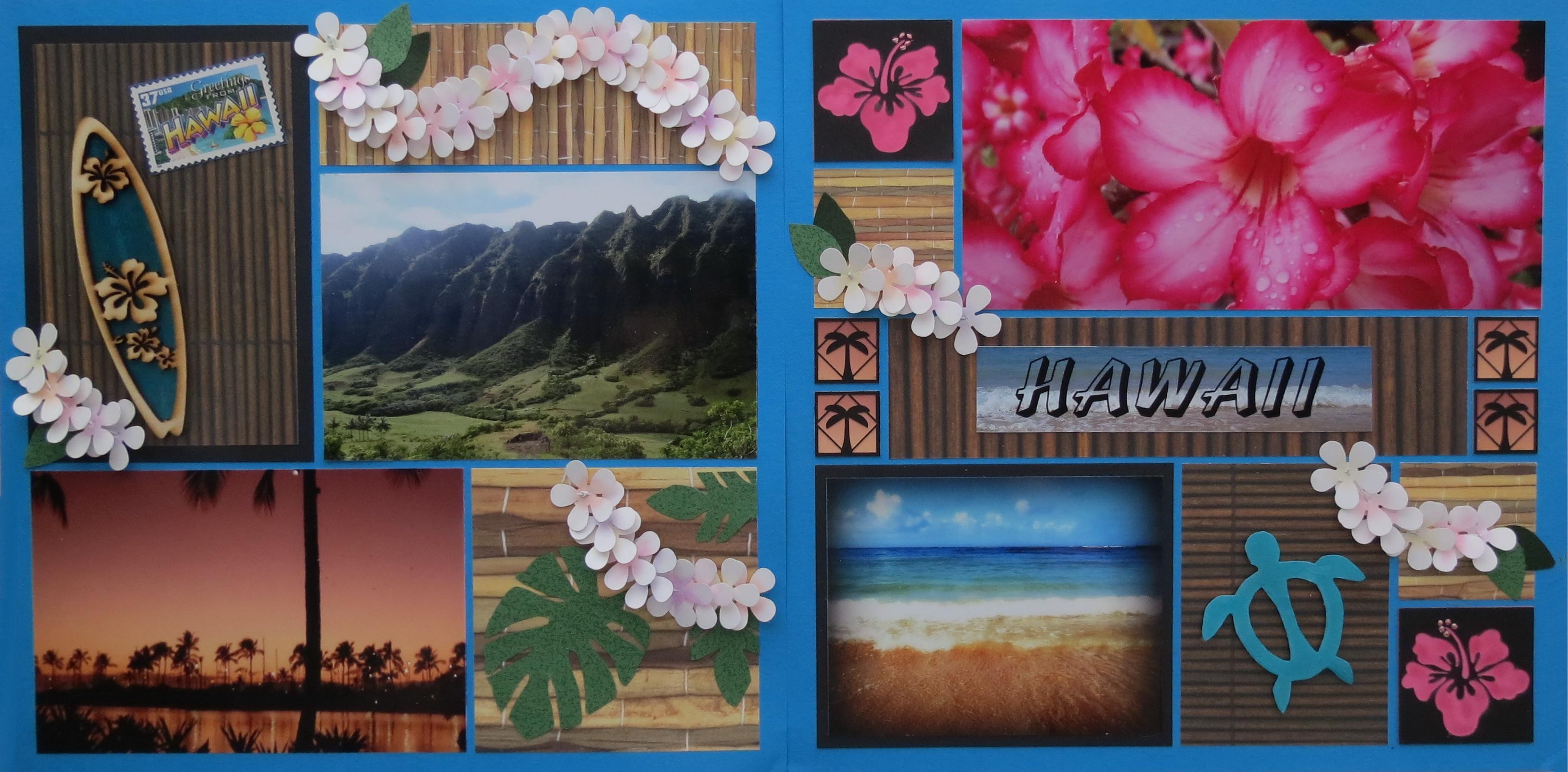 Scrapbook ideas hawaii - Mosaic Moments Hawaiian Escape Embellishing For That Island Feel