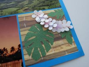 MM Hawaiian Escape lei and leaf embellishments