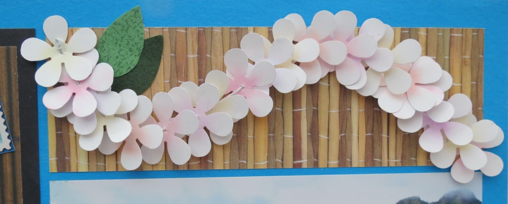 MM Hawaiian Escape banner of flowers form a lei.