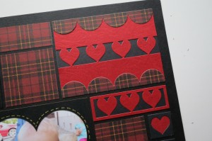 MM Heart Dies embellishment element using heart border and scallop border dies