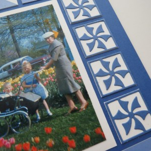 MM Going Dutch monochromatic blues inspired by Delft patterns featuring pinwheel die set