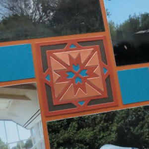 MM Highway Signs & Southwest Dies Cocoa Brown, teal, burnished copper and paprika palette