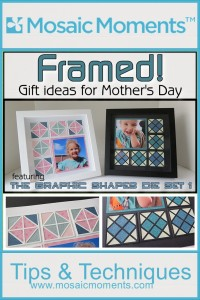 MM Graphic Shapes Dies Framed! Two styles Argyle and Quilt using three graphic shapes dies to create these designs.