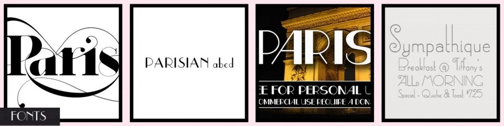 MM Inspiration Paris in Spring FONTS