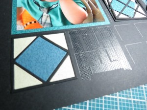 MM Graphic Shapes Dies Framed! Tip to attach inlaid design with ease.