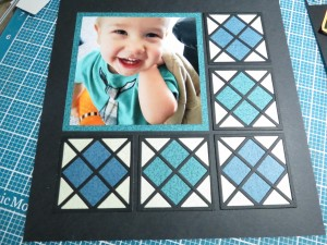 MM Graphic Shapes Dies Framed! Finish with Cross tile section.