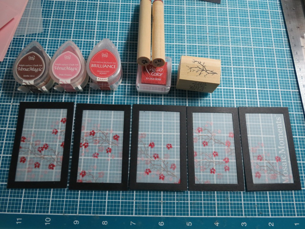 MM Inspiration Tokyo Cherry Blossoms creating the frames