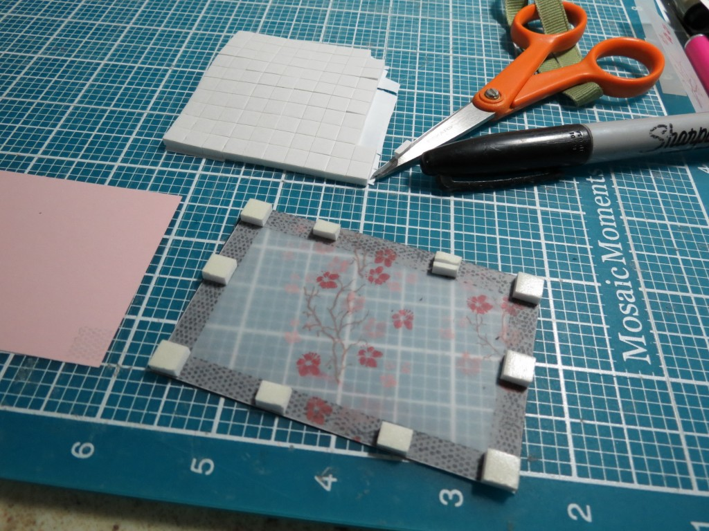 MM Inspiration Tokyo Cherry Blossoms foam mounting tape on backside of frames