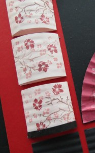 MM Inspiration Tokyo Cherry Blossoms fold on scores and mount on grid.