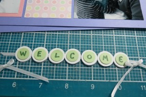 """MM-TYS Welcome Baby Title block detail creating """"welcome"""" section."""