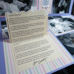 MM-TYS Welcome Baby journaling inside tells a story for the new baby