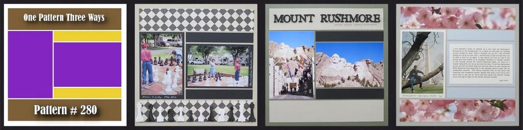 MM Scrapbooking Vacation Memories One Pattern Three Ways Pattern #280