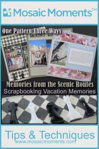 MM Scrapbooking Vacation Memories One Pattern Three Ways #280