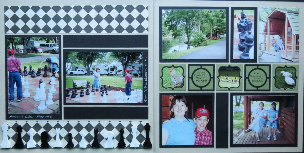 MM Circle and Scallop Frames Dies Put a Frame Around it paired up with Chess Club as an optional two page layout