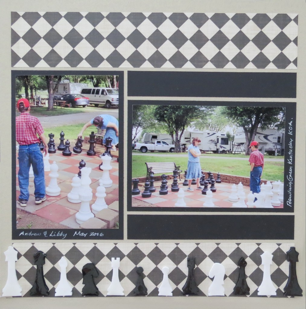 MM Scrapbooking Vacation Memories #280 Chess Club. Bowling Green, Kentucky KOA