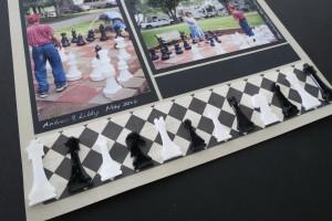MM Scrapbooking Vacation Memories Chess piece embellishments