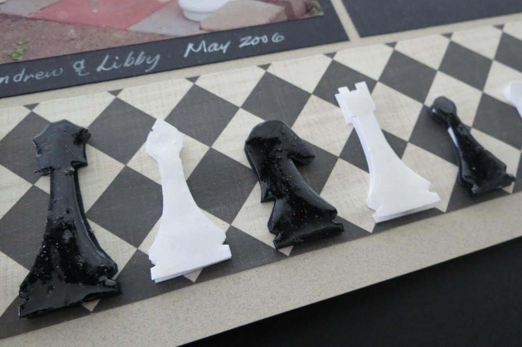 MM Scrapbooking Vacation Memories chess piece details