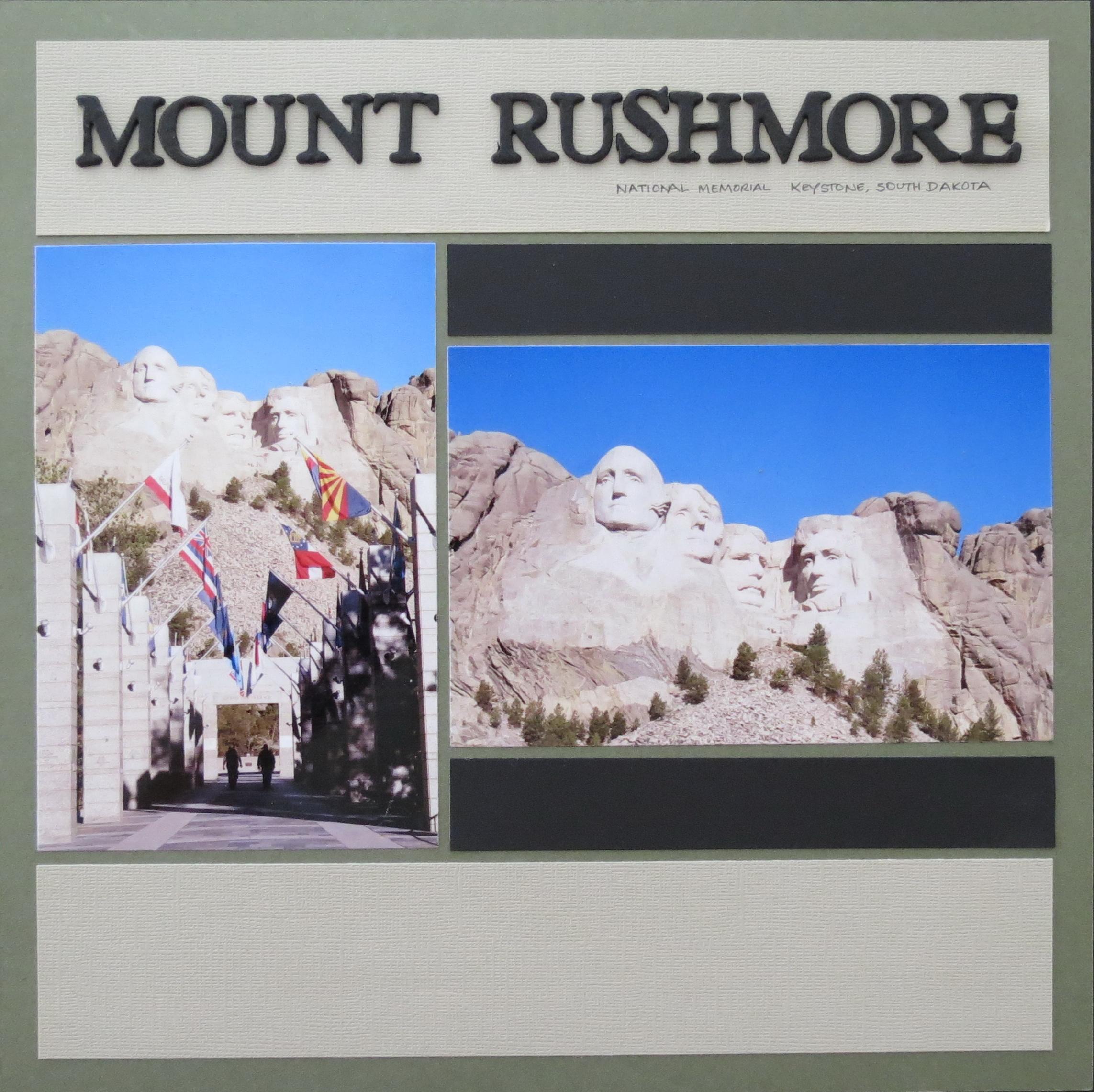 How to scrapbook memories - Mm Scrapbooking Vacation Memories 280 Mount Rushmore