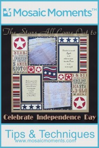 MM Stars Dies Sets to complete great Patriotic scrapbook pages