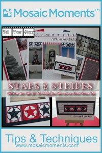 MM TYS DC Red WHite and Blue Stars & Stripes Vacation Scrapbook pages