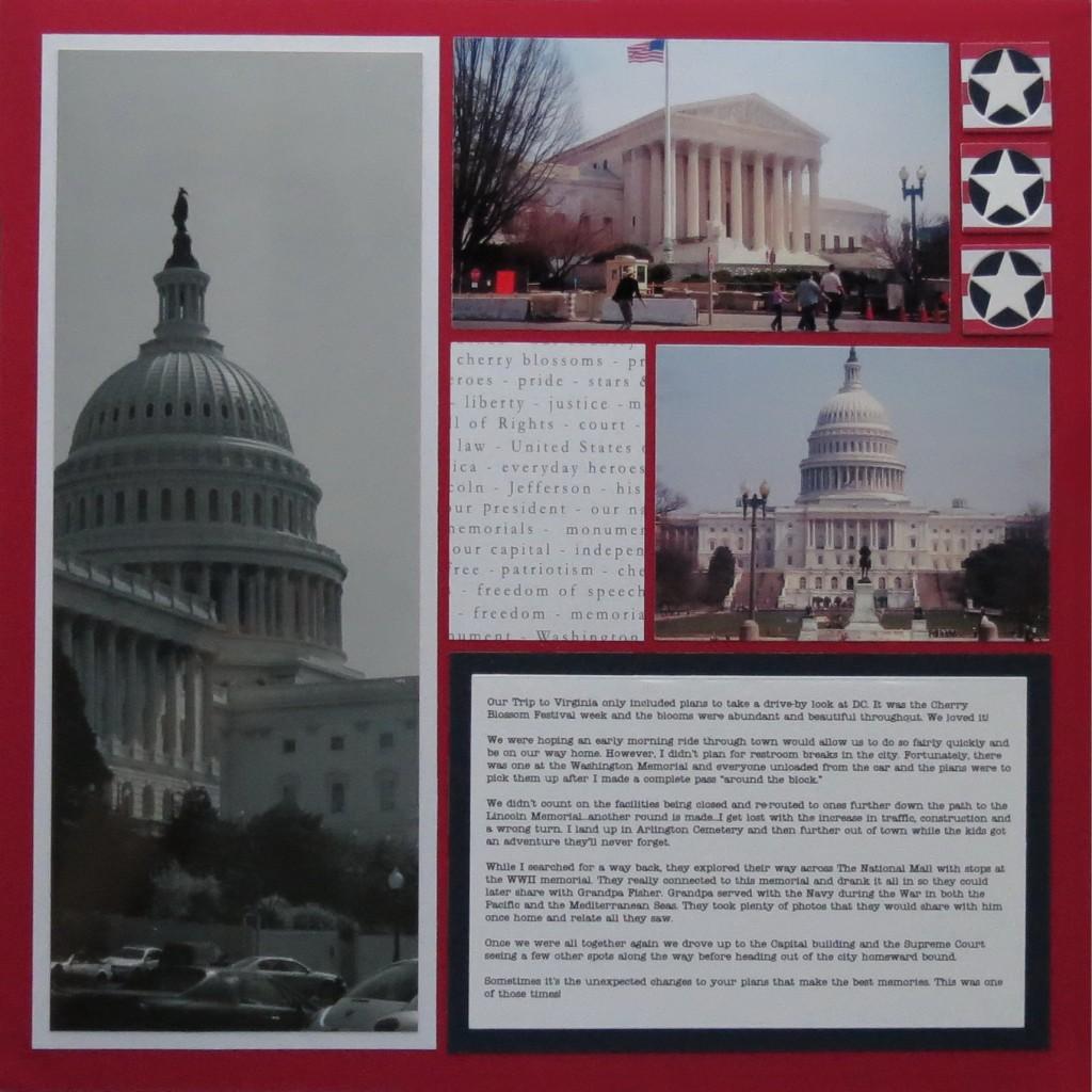 MM TYS Washington DC page one, Stars & Stripes.