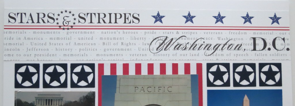 MM TYS DC Stars-n-Stripes using the pattern paper edge to edge for dramatic title
