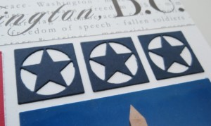MM TYS DC Stars-n-Stripes die cut stars direct to page no backing