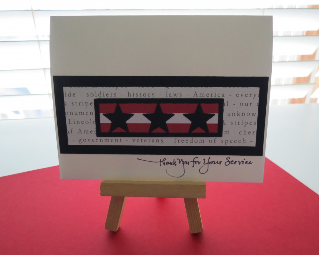 MM TYS Stars & Stripes The Card Remembering those who have served and sending thanks