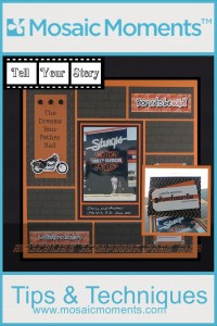 MM Tell Your Story Dreams Your Father Had ideas for masculine scrapbook pages card for Father's Day