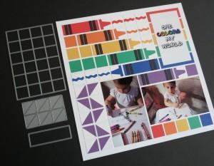 """MM The Power of the Pattern 1"""" grid tile die, Corner Tile die and Die Set B"""