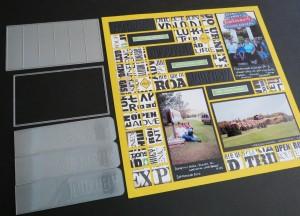 MM The Power of the Pattern 1x3.25 Strip Die, Die Set B and Debossing folders