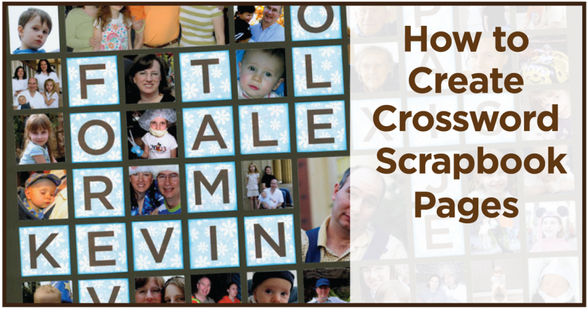 How To Create Crossword Scrapbook Pages