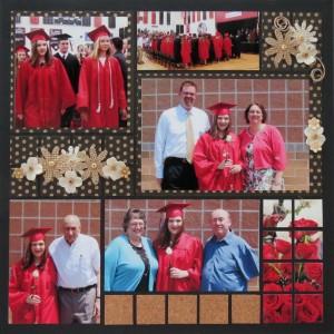 MM OTW Bonus page same pattern slightly altered Graduation Scrapbook page ideas