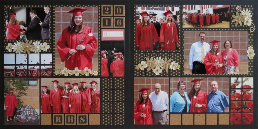MM OTW Graduation Scrapbook Page idea