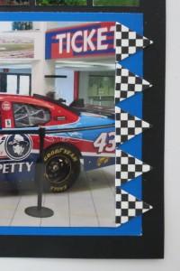 MM NASCAR themed checker flag details
