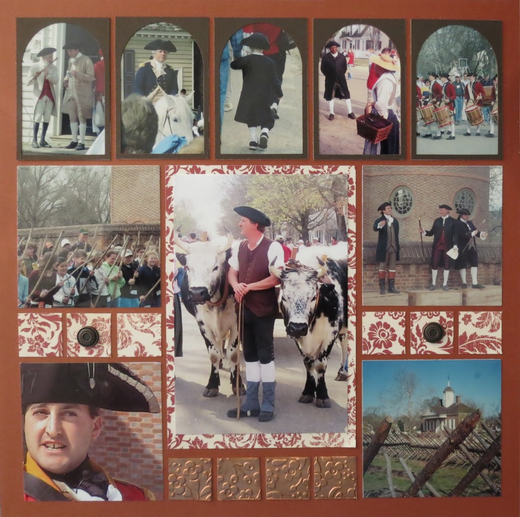 MM Colonial Inspiration page two done with MM Arche Tiles along top row of photos