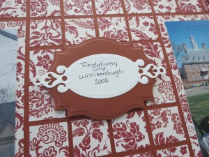 MM Colonial Inspiration pattern paper, colors, tag embellishments
