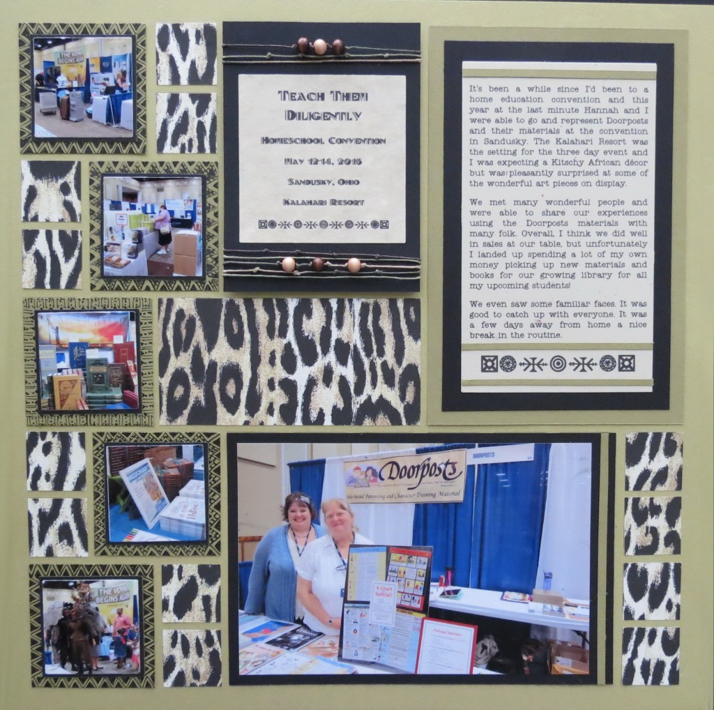 MM INSP African Safari Scrapbook Page one