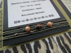 MM INSP African Safari beads, fiber and decorative font border