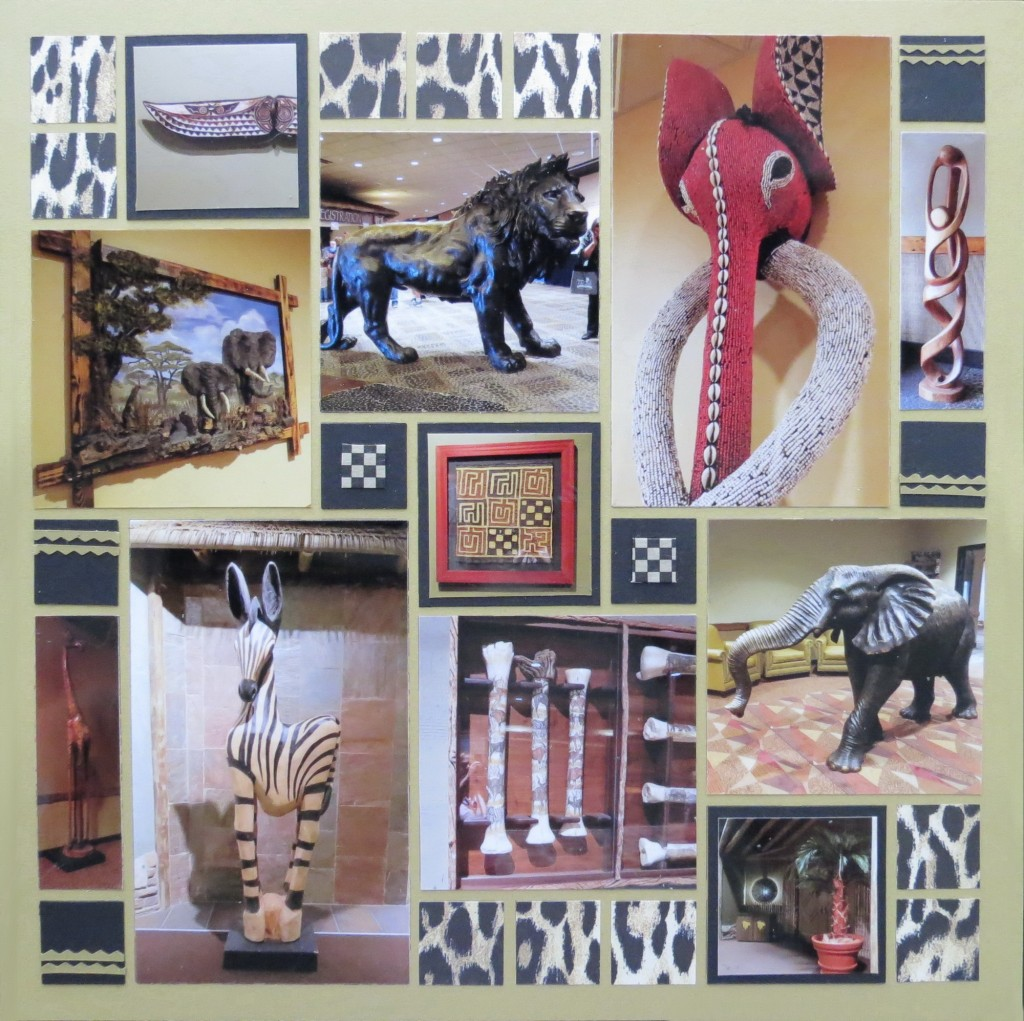 MM INSP African Safari scrapbook page two