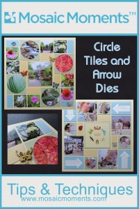 MM Circle Tiles and Arrow Dies Mosaic ideas for summer gardens vacations using the new dies #CreationMuseuem2016
