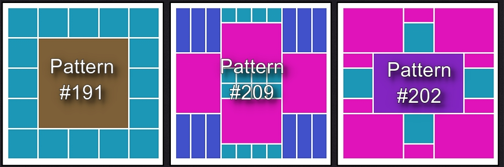 MM Patterns #191, 209, 202