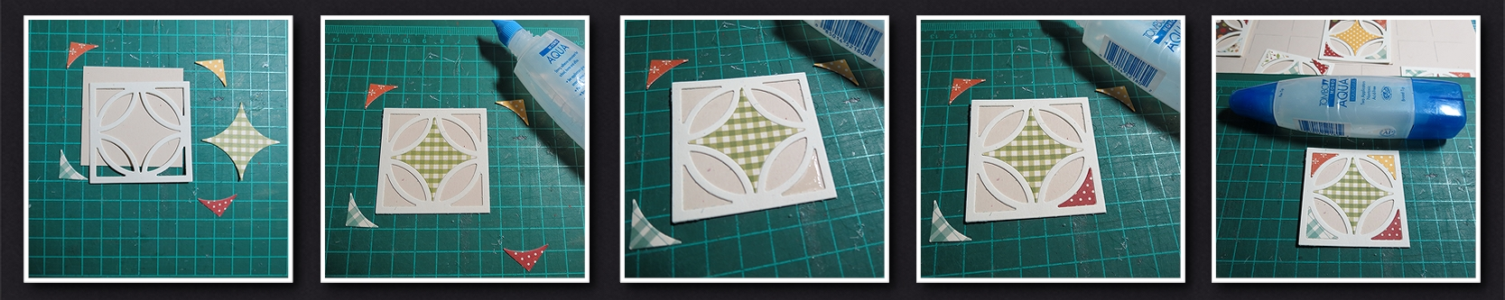 Mosaic Moments Diamond Ring Die for the Fall Quilt Scrapbook layout