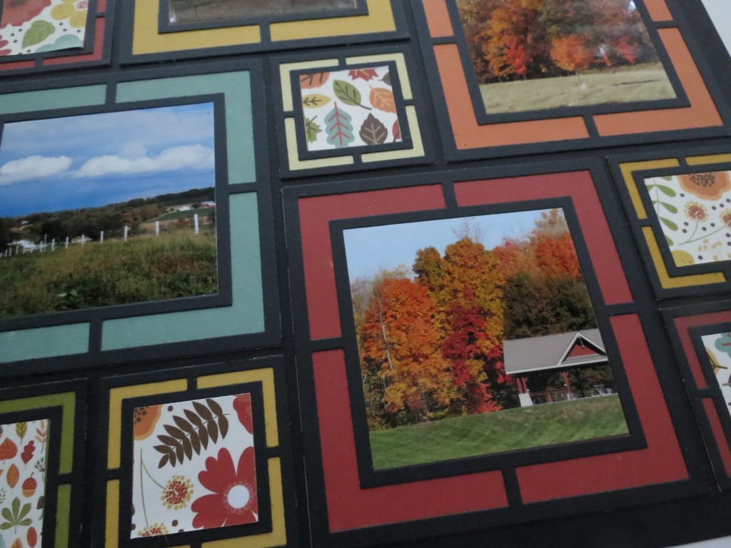 MM Frame It! Fall Layout Ideas featuring the Large Graphic Frame Die Set