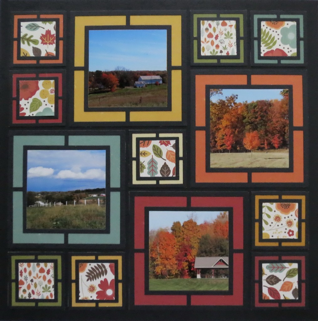 MM Frame It! Fall Layout ideas featuring Large Graphic Frame Die