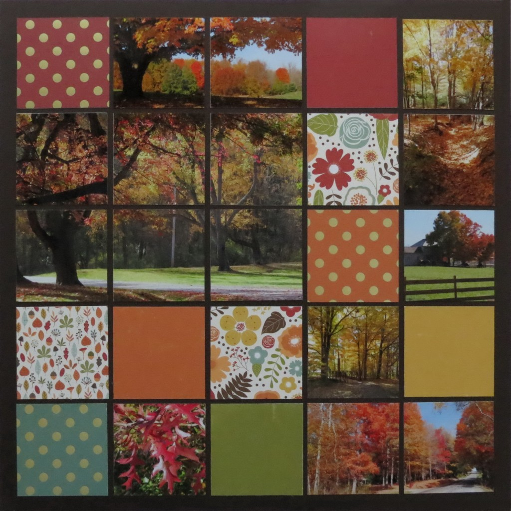 MM 3-in-1 Pattern #101 Memories Fall Scrapbook Ideas Large Mosaic Style