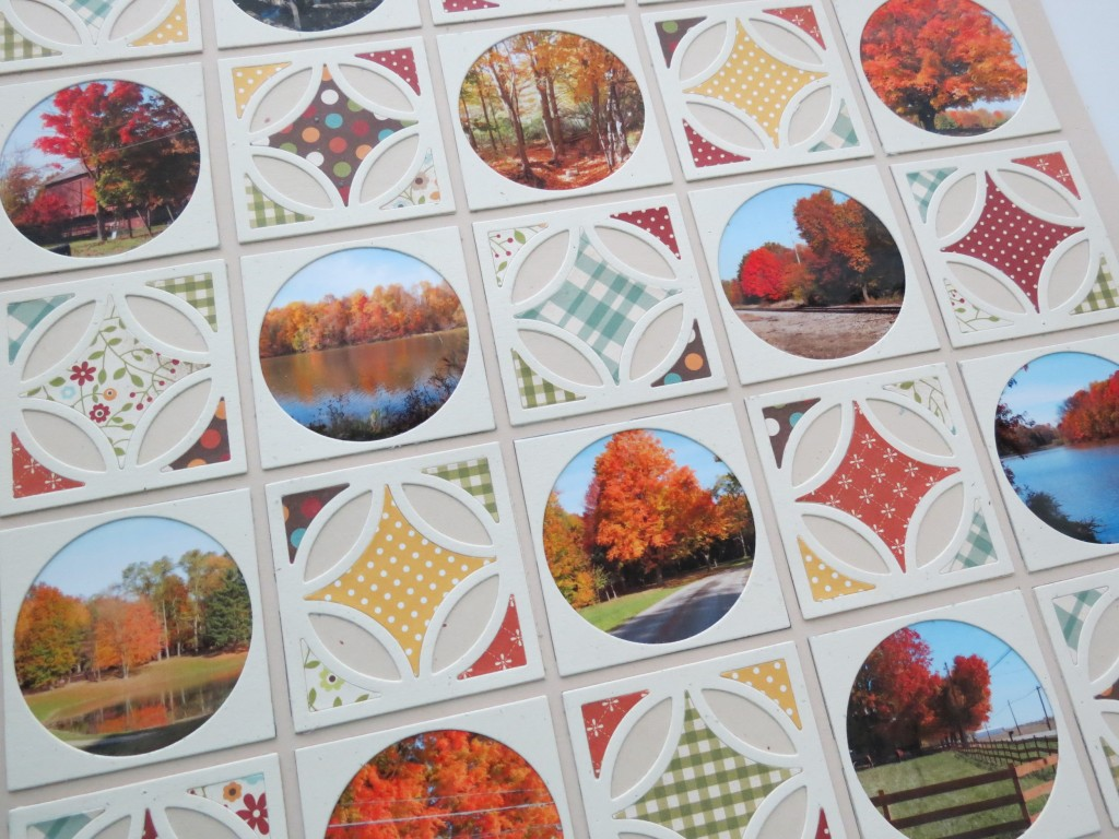 MM 3-in-1 Pattern #101 Memories close up of Fall Quilt Pattern for Scrapbooks